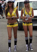 Candid car show girls